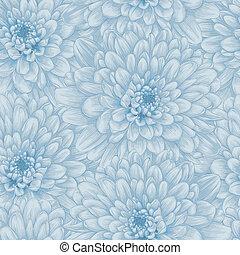 bello, blu, dahlia., seamless, fondo