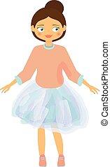 bello, blu, skirt., fashion., bambini, bambino, ragazza, tutu, cartone animato