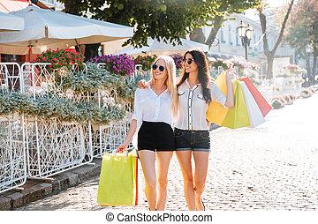 bello, borse, acquisto donne, città