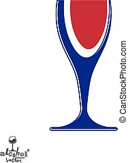 bello, calice, grafico, stile di vita, illustration., romantico, wineglass, sofisticato, idea., tema, vettore, disegno, artistico, appuntamento, elegante, vino, element., alcool