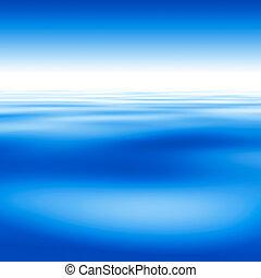 bello, cielo blu, fondo, acqua