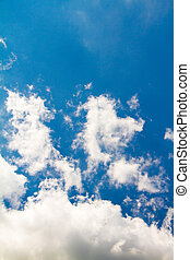 bello, cielo blu, nubi, grande, cumulo, fuoco, fondo, bianco, morbido