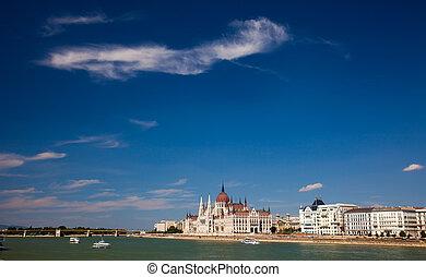 bello, costruzione, parlamento, budapest, ungheria