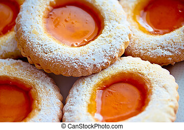 bello, dolce, biscotti, marmellata, delizioso