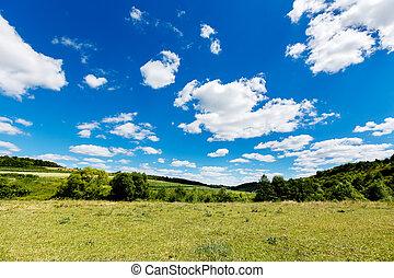 bello, estate, valle, paesaggio