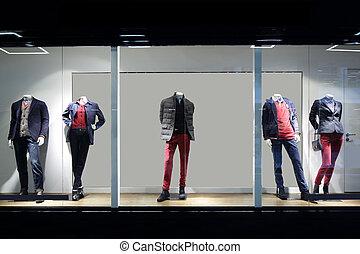 bello, finestra, negozio, europeo