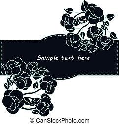 bello, fiore, scheda