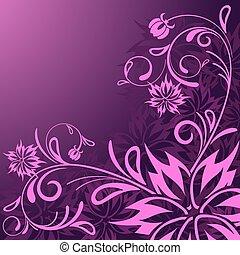 bello, floreale, astratto, vettore, fondo