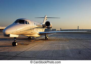bello, forma, jet privato