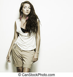 bello, foto, stile, moda, ragazza