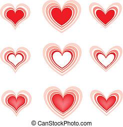bello, hearts2, set