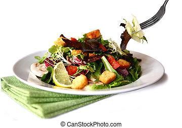 bello, insalata, bianco