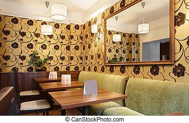 bello, interno, moderno, ristorante