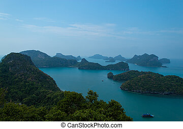 bello, isole, angthong, mare, suratthani.