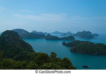 bello, isole, angthong, mare, suratthani.