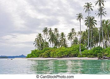 bello, isole, disertare paesaggio