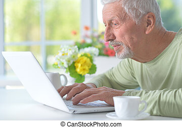 bello, laptop, vecchio