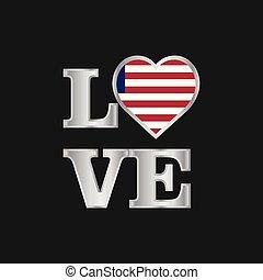 bello, liberia, amore, iscrizione, tipografia, bandiera, vettore, disegno
