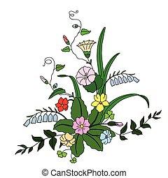 bello, mazzolino, flowers., selvatico
