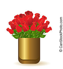 bello, mazzolino, rose