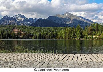 bello, montagne, lago, Slovacchia,  tatra,  strbske
