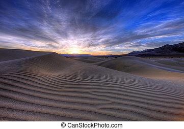 bello, morte, parco nazionale, california, valle, paesaggio