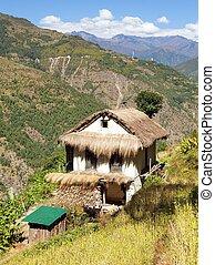 bello, nepal, valle, khumbu, casa