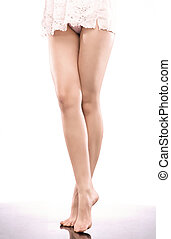 bello, nudo, magro, gambe