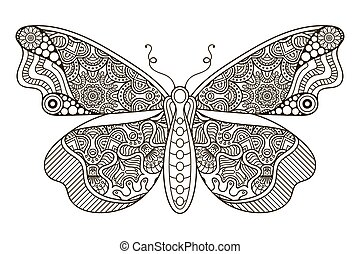 bello, ornamento, butterfly.