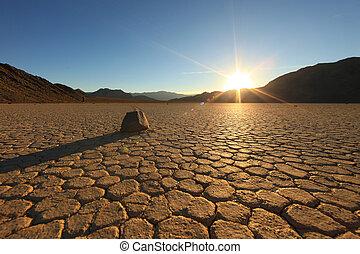 bello, paesaggio, in, valle morte parco nazionale,...