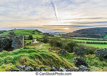 bello, paesaggio, irlandese
