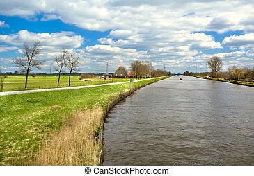 bello, paesaggio, olandese
