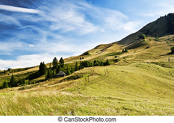 bello, paese, landscape.dramatic, cielo, colline