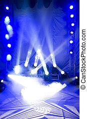 bello, palcoscenico, illuminazione