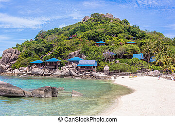 bello, paradiso, isola tropicale