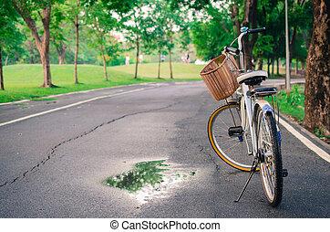bello, parco, bicicletta, paesaggio