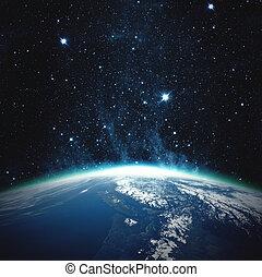 bello, pianeta, earth., elementi, di, questo, immagine, ammobiliato, vicino, nasa