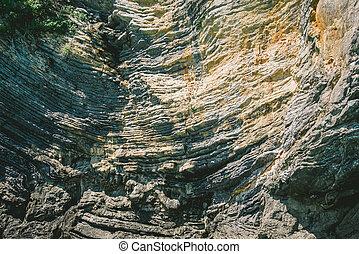 bello, piegato, roccia, struttura, come, retro, fondo