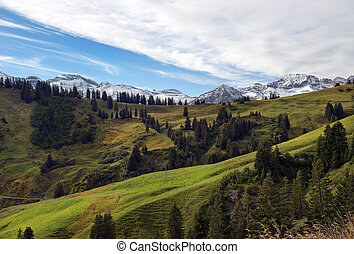 bello, prati, paesaggio, alpino