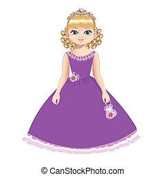 bello, principessa, diadema