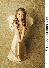 bello, ragazza, angelo