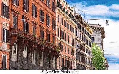 bello, roma, italia, centro, casa