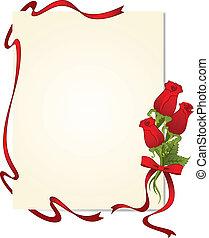 bello, rose, cornice