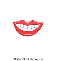 bello, sorriso, labbra