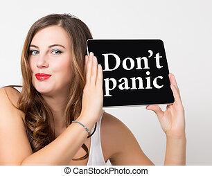 bello, spalle, donna, networking, tecnologia, tavoletta, non faccia, concept., screen., virtuale, pc, scritto, nudo, presa a terra, internet, panico