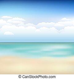 bello, spiaggia, paesaggio