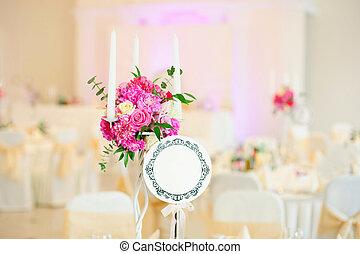 bello, tavola, fiori, weddi