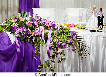 bello, tavola, matrimonio