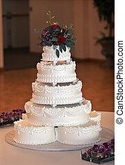 bello, torta, multi-tiered, matrimonio