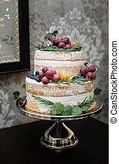 bello, torta, two-tiered, matrimonio